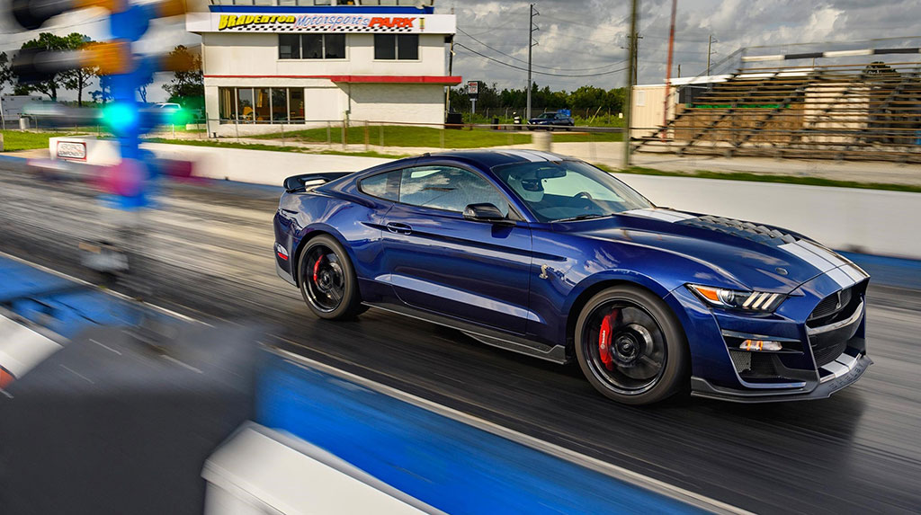 The TREMEC TR-9070 DCT is the only transmission available in the 2020 Ford Mustang Shelby GT500. And with a 0-60 mph time under 3.5 seconds and a quarter-mile time under 11 seconds, it is also the quickest Mustang in Blue Oval history.